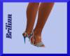 [B] Teal Blue Heels