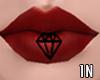 !N diamond lips tattoo