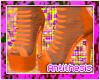 A | Orange Strap Heels