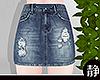 ☁ Jean Skirt l Navy