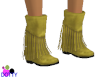 yellow fringe boots