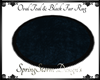 Teal & Black Oval Fur Ru
