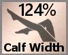Calf Thick Scale 124% FA