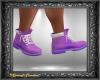 Purple & Wht Hiker Boots
