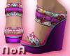 *NoA*Flower Wedge Shoes1