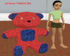 *KR- Denim/red Teddybear