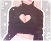 F. Sweater Heart Black