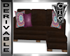 CTG BOHO LEATHER  COUCH