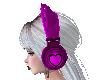 Pink heart Headphones