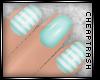 + Aqua Striped Nails