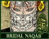 Bridal Naqab White Silvr