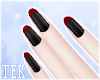 [T] Nails red tips