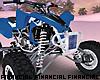 Blue ATV Quad