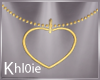 K gold heart necklace