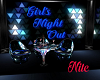 girls night club table