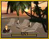 Deck chairs/bonfire