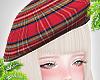 d. red beret plaid