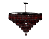 Black red Chandelier