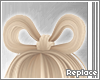 . hair bow | platinum