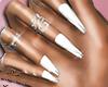 AishaWhite+Silver+Rings