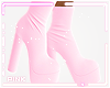 ♔ Boots e Baby Pink