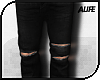 A| Ripped Jeans - Black