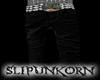 black punk pants