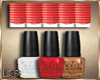 10# Nails Red / Gold