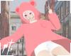 ¤ cute frog hoodie pink