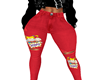 rugrats jeans red L