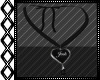 Josh Black Heart Necklac