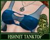 Fishnet Top Blue