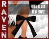SILKY BLACK ARM BOWS!