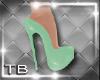 [TB] Flora Green Heels