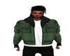 Green Top Bomber Jacket