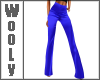 Fitted flares blue