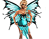 Teal Fairy Wings