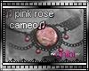 pink rose cameo