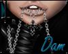 *Dam* Chain Cross Lips