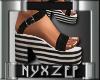 Zena Black/White Sandal