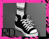 Black Converse w/ Socks