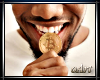 Bitcoin in mouth male