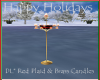 DL*RedPlaid Brass Candle