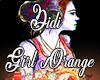 Headphone Girl Orange