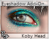 Teal Eyeshadow -Koby