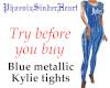 Blue metal Kylie tights