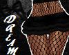 Leather Fishnet Skirt