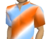 Stripy Blue/Orange T
