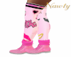 Pink Angel Boots