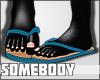 J. Blue Flip Flops !